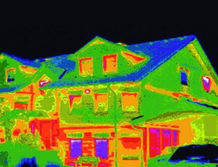 Ház hőkamera