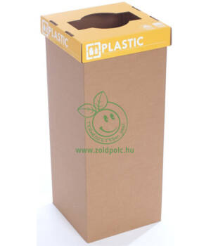 Szelektív kuka erősített kartonból 60l (műanyag-angol)