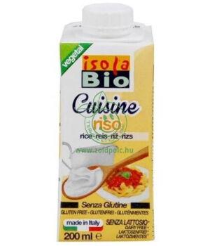 Rizs főzőtejszín gluténmentes bio, Isola Bio