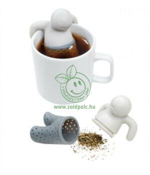 Teafűtartó, szilikon (emberke)