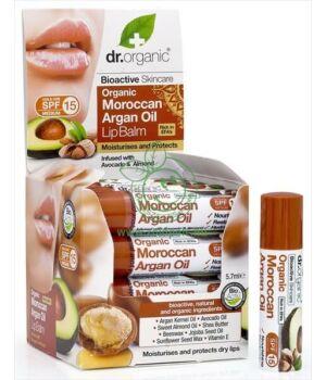 Dr. Organic ajakbalzsam (argán olaj)