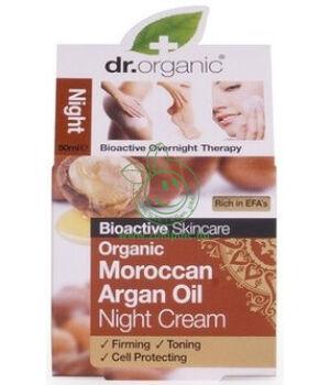Dr. Organic éjszakai krém (argán olaj)