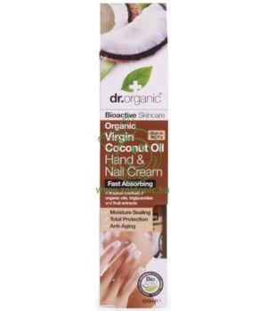 Dr. Organic kéz- és körömápoló krém (kókuszolaj)