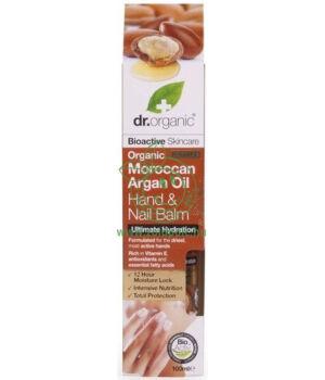 Dr. Organic kéz- és körömápoló balzsam (argán olaj)