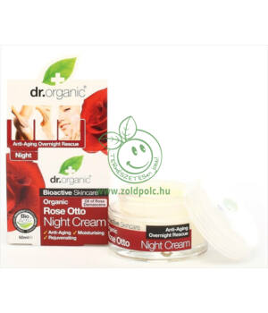 Dr. Organic éjszakai krém (rózsa)