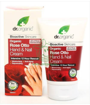Dr. Organic kéz- és körömápoló (rózsa)
