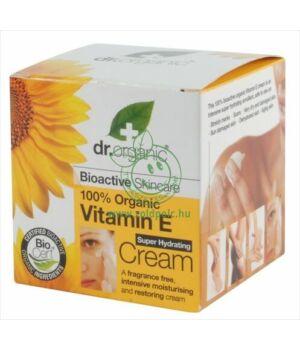 Dr. Organic szuper-hidratáló krém (E vitamin)