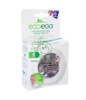 Mosógéptisztító tabletta, Ecoegg Detox (6 db/csomag)