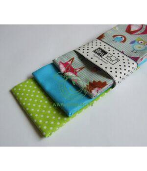 Textil zsebkendő 3 db-os, BlessYou (Gyerek-Erdei állatos)