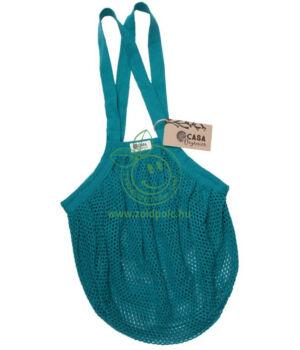 Extra erős hálós bevásárló táska biopamut 40×40 cm (kékeszöld)