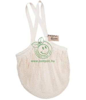 Extra erős hálós bevásárló táska biopamut 40×40 cm (natúr)