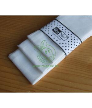 Textil zsebkendő 3 db-os, BlessYou (Női-Fehér)