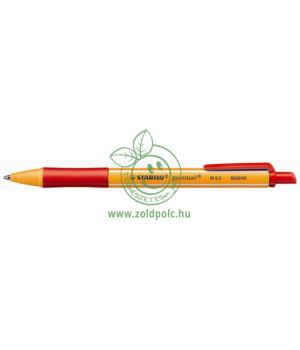 Golyóstoll nyomógombos 0,5mm, Stabilo Pointball (piros)