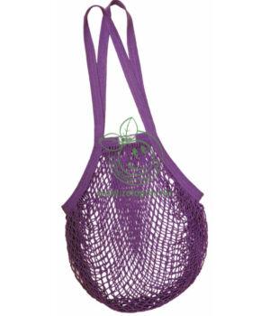 Hálós bevásárló táska biopamut, hosszú füles (szeder)