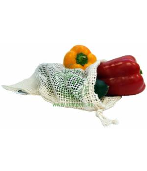 Húzófüles hálós zsák biopamut (30×20cm)