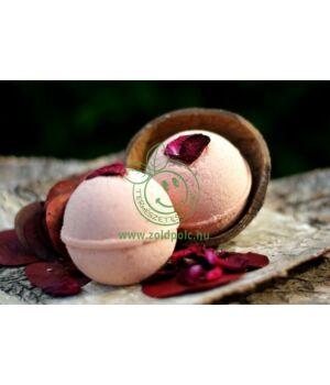 Kecsketejes pezsgő fürdőgolyó, Olivia (rózsageránium)
