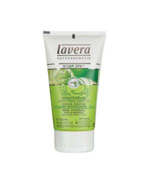 Lavera Body Spa tusfürdő testradírral (vasfű-lime)