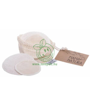 Mosható arctisztító párna biopamut, 6 db-os csomag