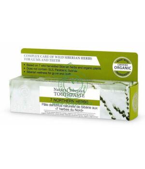 Fluoridmentes fogkrém, Natura Siberica (gyógynövényes)