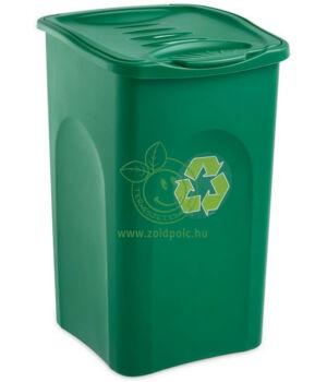Szelektív tároló Begreen 50l (zöld)