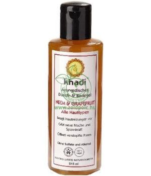 Fürdő- és tusológél, Khadi (Neem-Grapefruit)
