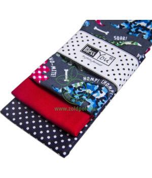 Textil zsebkendő 3 db-os, BlessYou (Gyerek-Dínós)