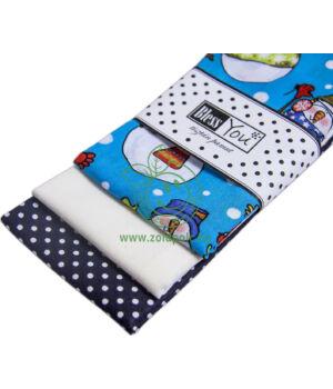 Textil zsebkendő 3 db-os, BlessYou (Gyerek-Hóemberes)