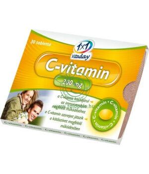 C-vitamin tabletta 200mg, Vitaday (30db)