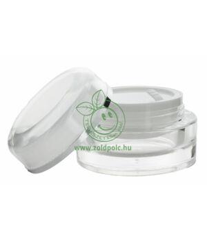 Exkluzív átlátszó akril tégely ezüst csíkkal (15ml)