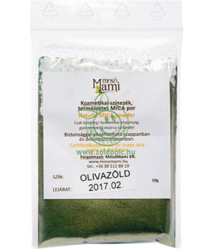 Ásványi színezék por, Mica (olívazöld)