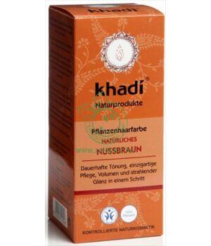 Henna hajfesték por, Khadi (mogyoróbarna)