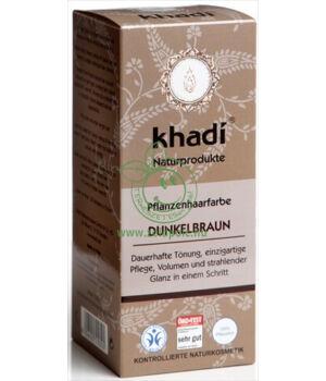 Henna hajfesték por, Khadi (sötétbarna)