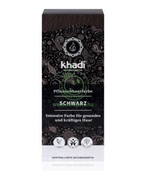 Henna hajfesték por, Khadi (fekete)