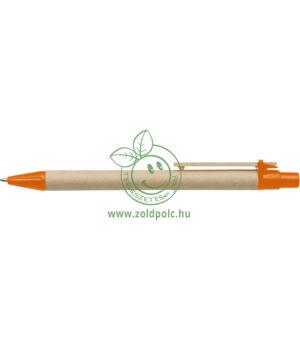 Környezetbarát karton golyóstoll (narancs)