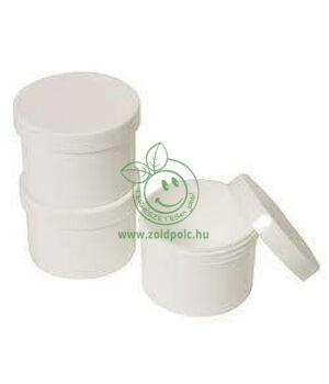 Műanyag tégely, fehér (500ml)