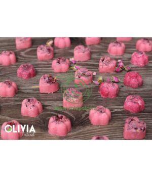 Kakaóvajas fürdőpraliné, Olivia (rózsa)