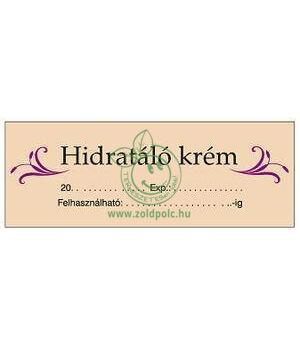 Öntapadó kozmetikai címkék 8db (hidratáló krém)