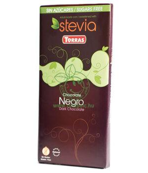Étcsokoládé steviával, Torras (natúr,100g)