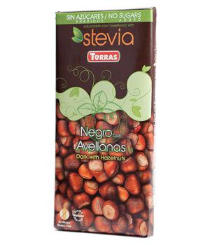 Étcsokoládé steviával, Torras (mogyorós,125g)