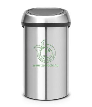 Érintőzáras szemetes, fém henger Touch Bin (60l,matt acél)