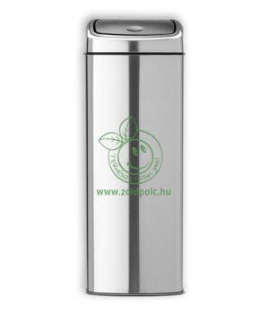 Érintőzáras szemetes, fém szögletes Touch Bin (25l,matt acél)