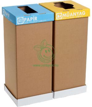 Vízálló tálca szelektív karton kukához (60l)